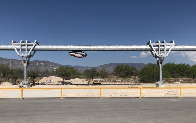 skyTran's testing facility being set up at a site in Mexico (Courtesy)