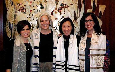 SooJi Min-Maranda, second from right, at her bat mitzvah celebration. (Courtesy)