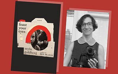 Myla Goldberg, author of 'Feast Your Eyes.' (Courtesy of Goldberg/ collage by Kveller/via JTA)