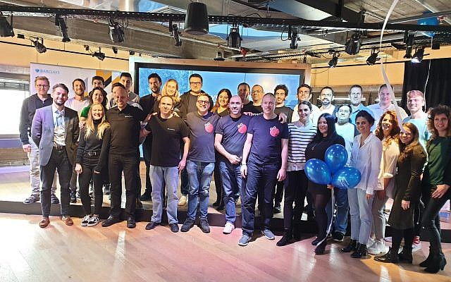 Participants in Barclays 2019 Tel Aviv Accelerator program, run jointly with Techstars (Courtesy)