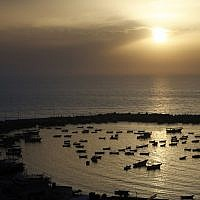 A general view of the fishing port in Gaza City, on May 5, 2019. (MOHAMMED ABED / AFP)