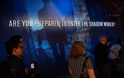 Visitors tour the new International Spy Museum during a media preview ahead of its opening in Washington on May 7, 2019. (Saul Loeb/AFP)