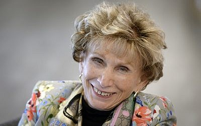 Clinical psychologist, professor and author Edith Eger poses during an interview with AFP on May 7, 2019, in Lausanne, Switzerland. (Richard Juilliart/AFP)