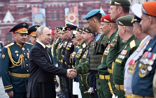 On Anniversary Of Nazi Defeat Putin Vows To Strengthen Russian Military The Times Of Israel