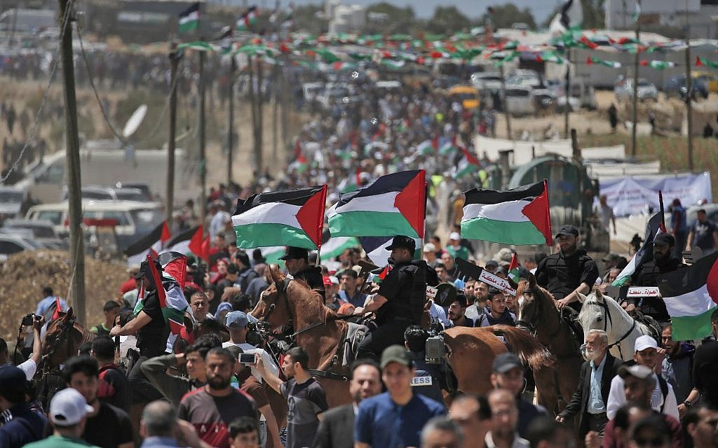 Thousands of Palestinians mark 'Nakba' with Gaza protests, West Bank marches