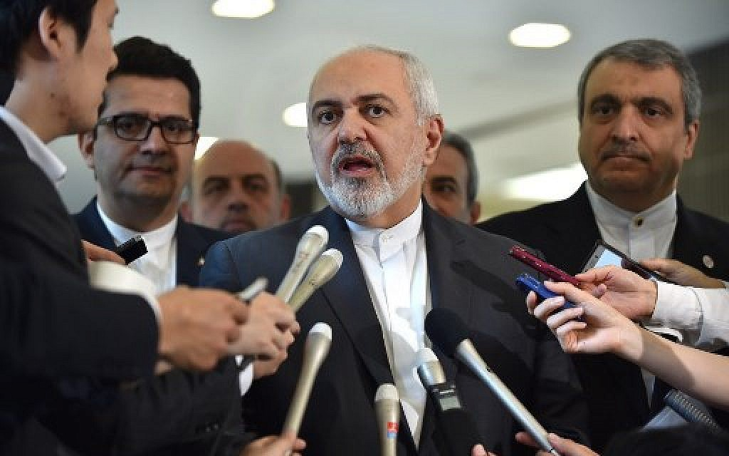 Zarif says Iran showing 'maximum restraint,' US escalation 'unacceptable'