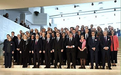 Participants gather for a group photo during the annual meeting of the Ministers for Foreign Affairs of the Council of Europe in Helsinki on May 17, 2019. Vesa Moilanen / Lehtikuva / AFP)