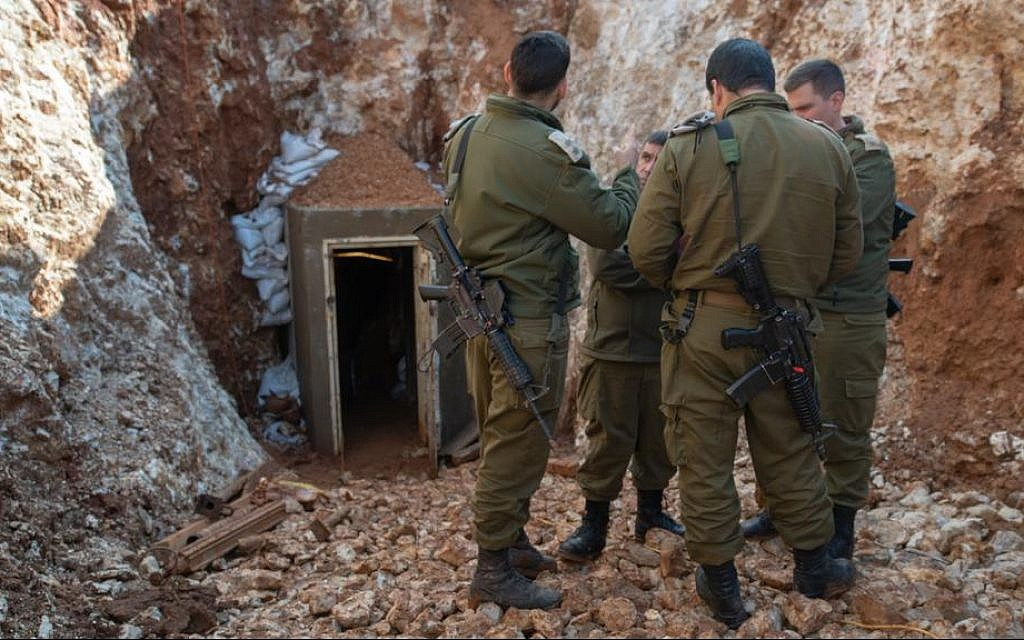 IDF reveals what it says is the longest cross-border attack tunnel dug by Hezbollah from Lebanon into Israel, May 29, 2019. (Israel Defense Forces)