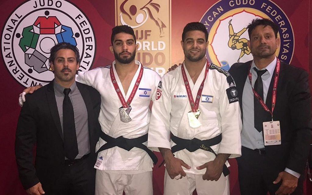 Two Israeli judokas take gold and silver at Baku Grand Slam