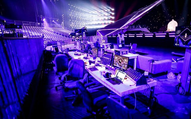 Part of the technical area of the Eurovision stage in Tel Aviv, May 5, 2019. (Thomas Hanses, Eurovision)