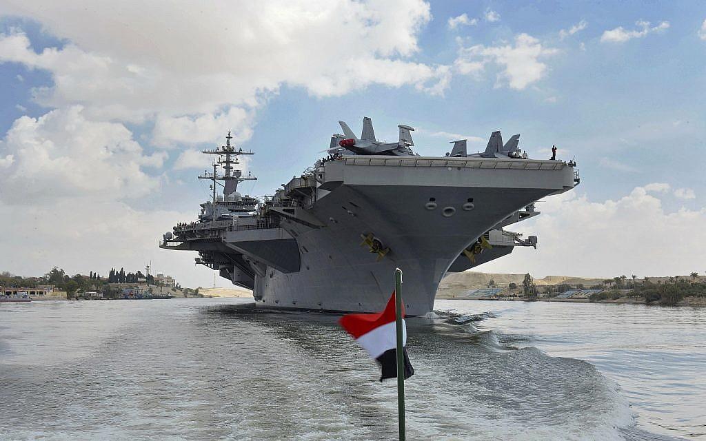 War talk grips Iraq as storied US carrier returns to Gulf