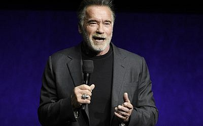 Arnold Schwarzenegger at CinemaCon 2019. (Chris Pizzello/Invision/AP, File)