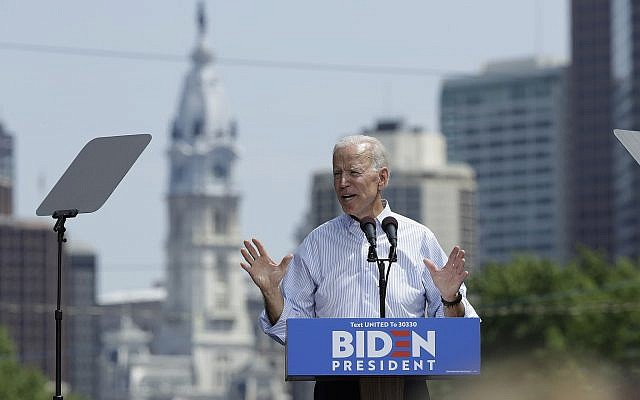 Democratic presidential candidate, former Vice President Joe Biden speaks during a campaign rally at Eakins Oval in Philadelphia, Saturday, May 18, 2019. (AP/Matt Rourke)
