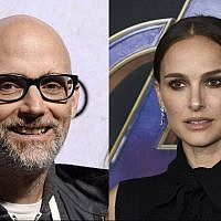 "Musician Moby (L) poses at the premiere of the film ""Suspiria"" at the ArcLight Hollywood, October 24, 2018, in Los Angeles. (Photo by Chris Pizzello/Invision/AP) Natalie Portman (R) arrives at the premiere of ""Avengers: Endgame"" at the Los Angeles Convention Center on April 22, 2019. (Photo by Jordan Strauss/Invision/AP)"