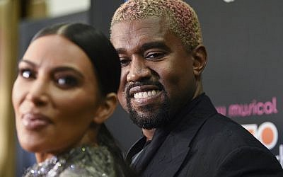 "Kanye West and wife Kim Kardashian West attend ""The Cher Show"" Broadway musical opening night at the Neil Simon Theatre on December 3, 2018, in New York. (Evan Agostini/Invision/AP)"