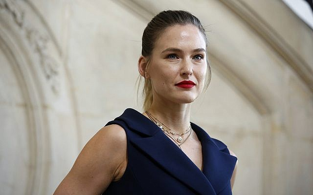 Model Bar Refaeli poses for photographers upon arrival at the Dior ready-to-wear Fall-Winter 2019-2020 collection in Paris, February 26, 2019. (Thibault Camus/AP)