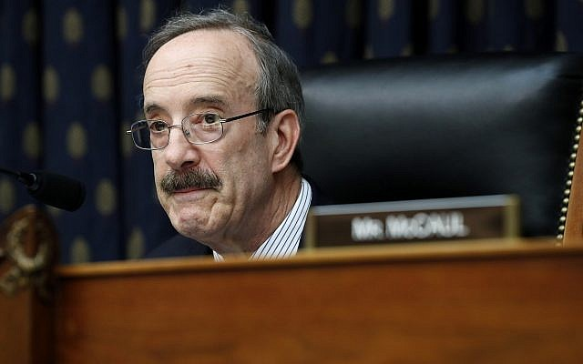 House Foreign Affairs Chairman Rep. Eliot Engel, D-NY, during a committee hearing on Kosovo's Wartime Victims, April 30, 2019, on Capitol Hill in Washington. (AP Photo/Jacquelyn Martin)