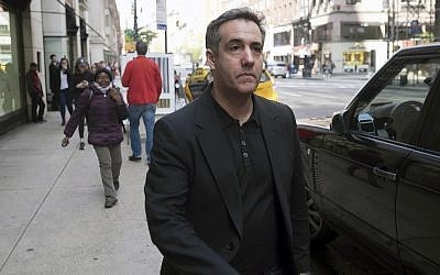 Michael Cohen, US President Donald Trump's former personal attorney, walks down Madison Avenue, May 4, 2019, in New York (AP Photo/Jonathan Carroll)
