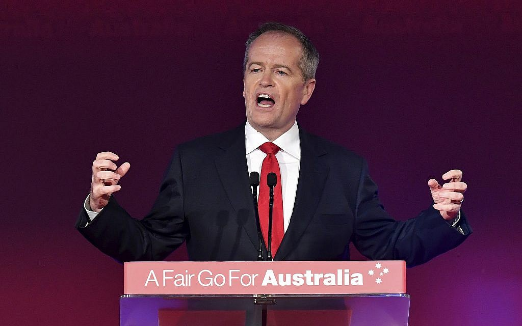 As Australia heads to polls, Labor vows to reverse Jerusalem recognition