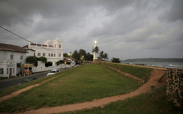 In this May 10, 2019, photo, the 17th century built Dutch fort, which was a popular tourist site, stands empty in Galle, Sri Lanka (AP Photo/Eranga Jayawardena)
