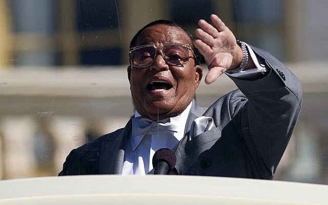 Nation of Islam leader Louis Farrakhan speaks during a rally to mark the 20th anniversary of the Million Man March, on Capitol Hill in Washington, Oct. 10, 2015. (AP/Evan Vucci)