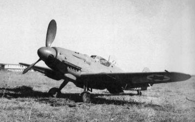 An Israeli Air Force Avia S-199, derived from the German Messerschmitt, in 1948 (Public Domain)