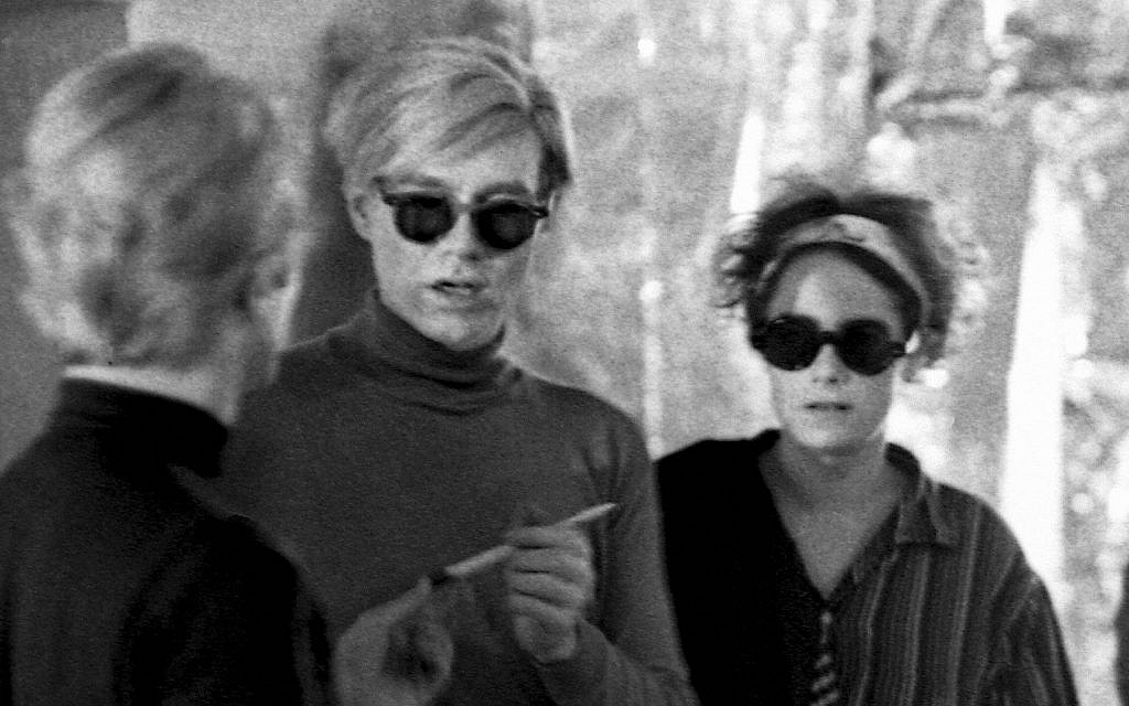 Barbara Rubin with Andy Warhol, 1966. (Estate of Nat Finkelstein)