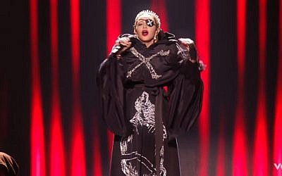 Madonna performs at the 2019 Eurovision song contest (Screencapture/YouTube)