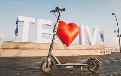 A Bird scooter in Tel Aviv (Courtesy)