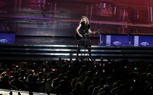 Illustrative. Madonna opens her MDNA world tour in Tel Aviv in May 2012. (Flash 90/File)