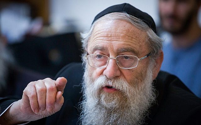 Rabbi Aryeh Stern on May 10, 2015. (FLASH90)