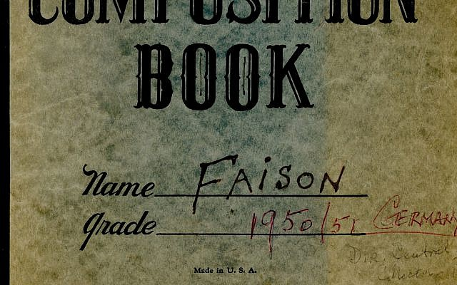 World War II Diary of S. Lane Faison, Jr.(Courtesy of Monuments Men Foundation for the Preservation of Art via JTA)
