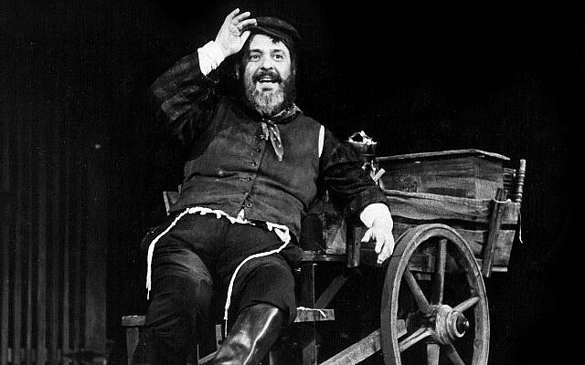 Zero Mostel as Tevye in a still from 'Fiddler: A Miracle of Miracles.' (Courtesy Toronto Jewish Film Festival)