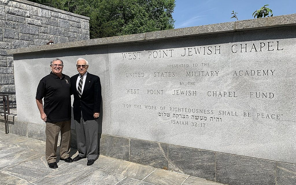 Terry Bresnik, Class of 1969, and Joel Kampf, Class of 1959. (Cathryn J. Prince/Times of Israel)
