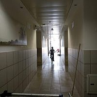 Illustrative: High school hallway (Melanie Lidman/Times of Israel)