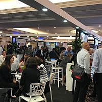Attendees of the 2019 MIXiii Biomed conference and exhibition held in Tel Aviv May 14-16, 2019. May, 14, 2019 (Shoshanna Solomon/Times of Israel)