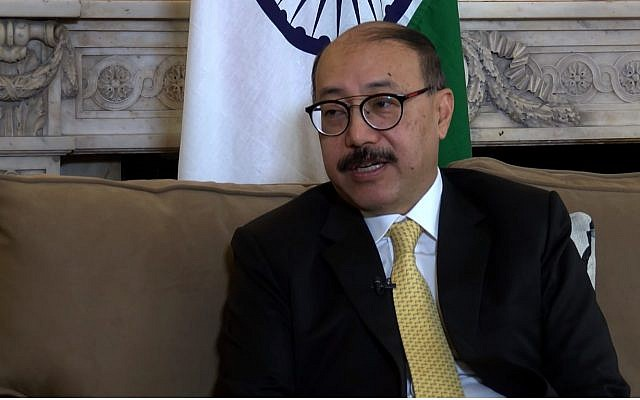 Screen capture from video of India's ambassador to the US, Harsh Vardhan Shringla. (YouTube)