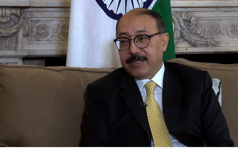 413878c4e9 Screen capture from video of India's ambassador to the US, Harsh Vardhan  Shringla. (