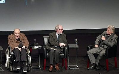 From left to right, Wynn Handman, Jeremy Gerard, and Michael Douglas answer questions at the 'It Takes A Lunatic' world premiere during the 2019 Tribeca Film Festival on May 3, 2019 in New York City. (Photo by Monica Schipper/Getty Images for Tribeca Film Festival)