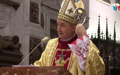 Polish Bishop Andrzej Jeż gives an address in March 2018. (Screen capture/YouTube)