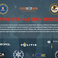 A screenshot shows the closure of website DeepDotWeb (Courtesy)