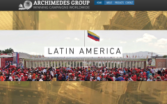 The Archimedes Group website's homepage, prior to May 16