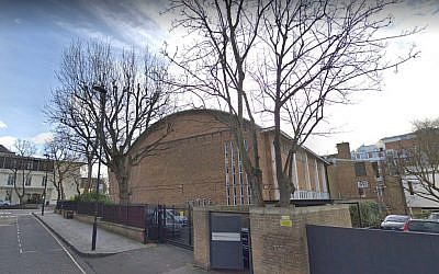 St John's Wood synagogue in London (Screen capture: Google Maps)
