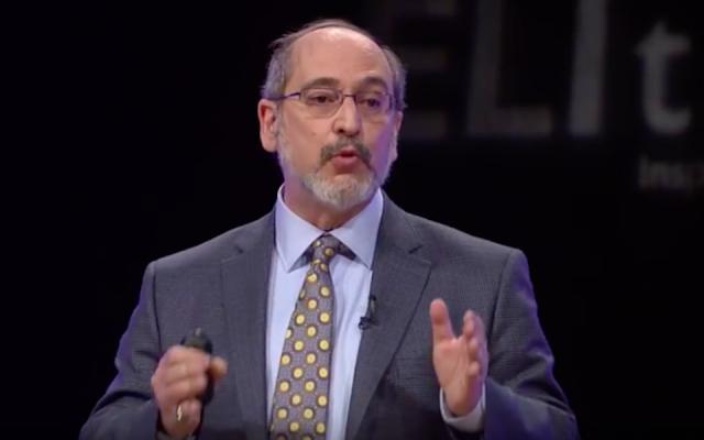 Rabbi Lawrence Troster in 2014. (Screen capture/YouTube via JTA)