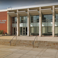 Highland Park High School is one of two suburban Chicago schools that stopped distributing yearbooks over questionable material. (Google Street View)