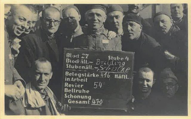 Photograph from the liberation of the Dachau camp on April 29, 1945, held in the collection of Belgian underground operative Adrian Aloy. (Kedem Auction House)
