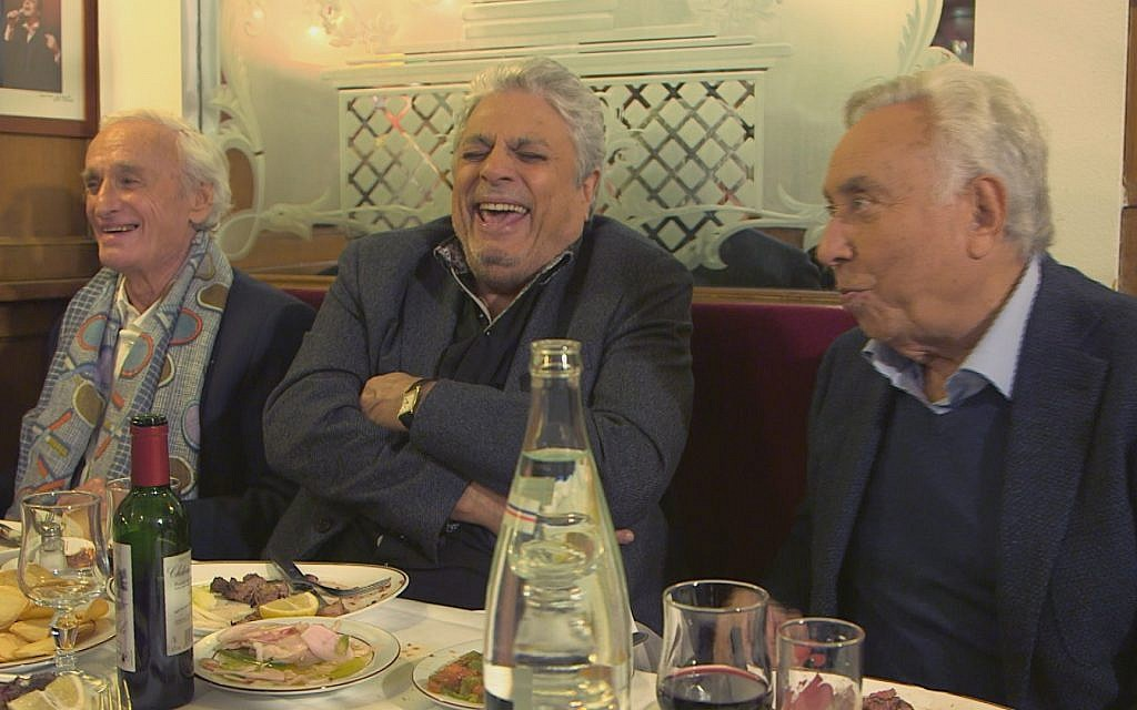 Regis Talar, Enrico Macias and Philippe Clair share a laugh. (Courtesy Yves Azeroual)