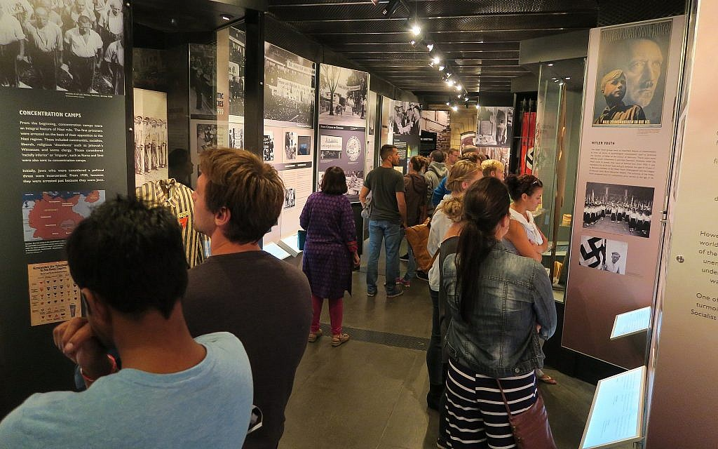 Visitors viewing the Cape Town Holocaust and Genocide Centre's permanent exhibition. (Cape Town Holocaust & Genocide Centre)