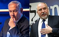 Prime Minister Benjamin Netanyahu, left, and Yisrael Beytenu head Avigdor Liberman, right. (Flash90)