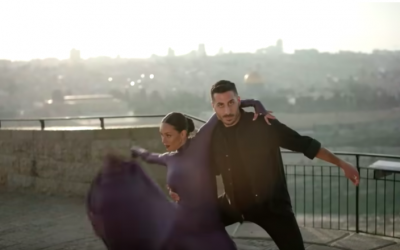 Kobi Marimi, Israel's contestant for Eurovision, in his 'postcard' video for Israel (Courtesy YouTube screenshot)